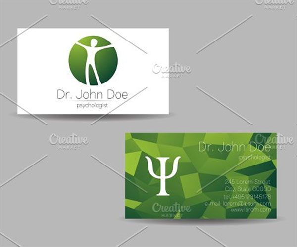 Health Care Clinic Business Card Design