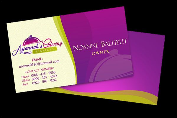 Home Catering Services Business Card