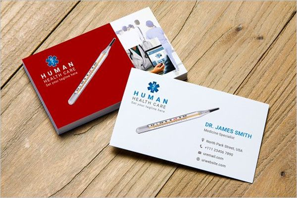 Human Clinic Business Card Design