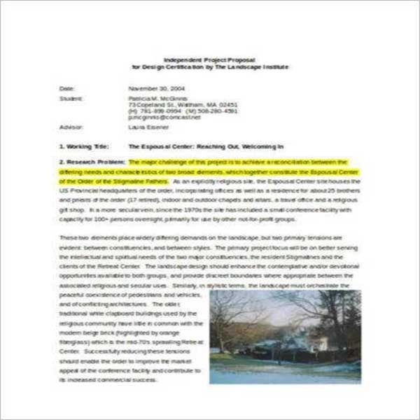 Landscape Design Proposal Template