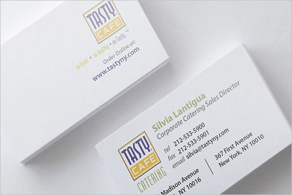 Latest Catering Services Business Card