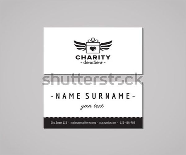 Latest Charity Business Card Design