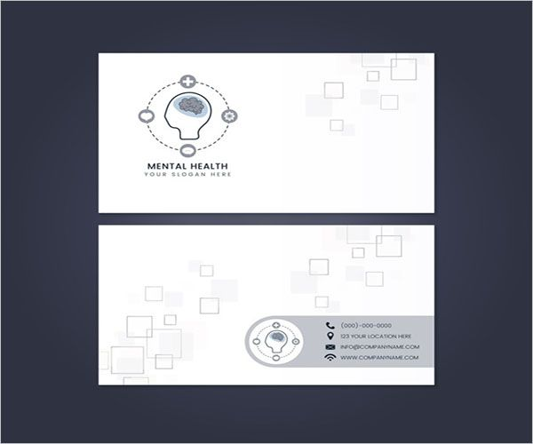 Mental Clinic Business Card Design
