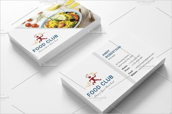 Modern Catering Services Business Card