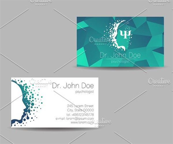 Modern Clinic Business Card Design