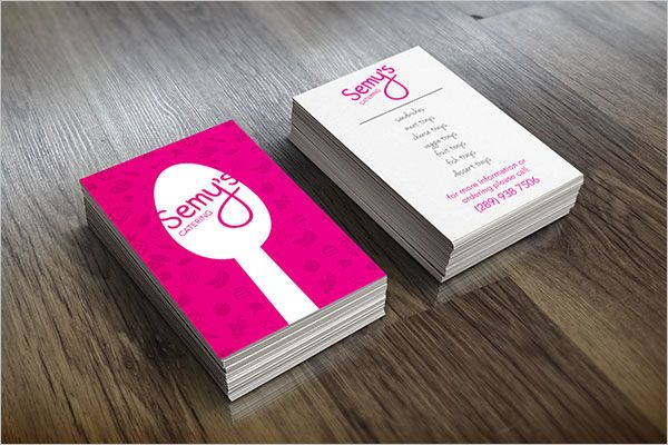 Personalized Catering Services Business Card