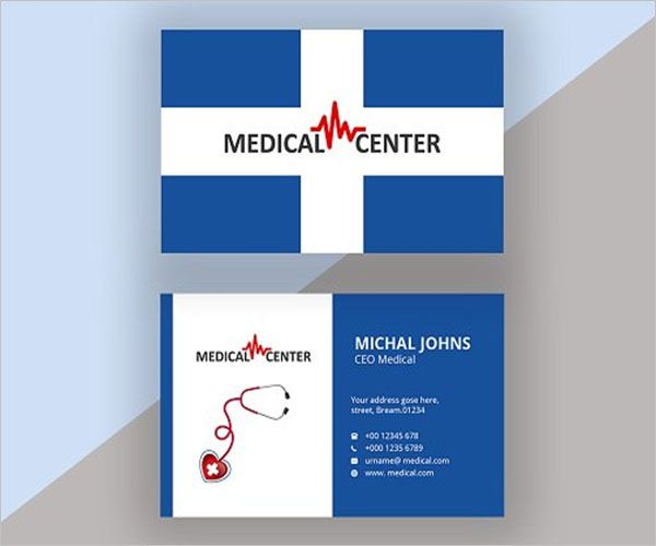 Personalized Clinic Business Card Design