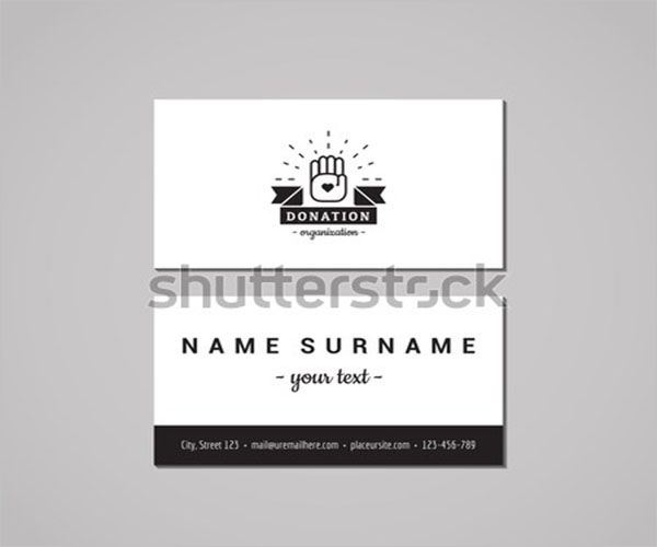 Popular Charity Business Card Design