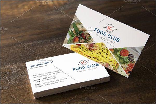 Premium Catering Services Business CardPremium Catering Services Business Card