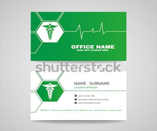 Private Clinic Business Card Design
