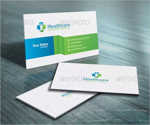 Professional Clinic Business Card Template