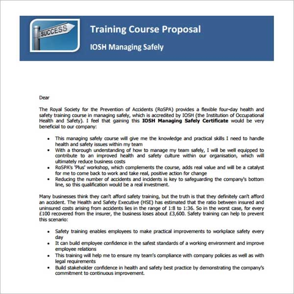 Professional Training Proposal Template