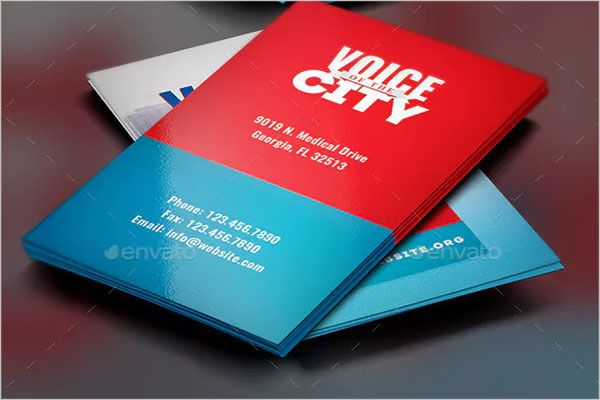 Responsive Charity Business Card Template