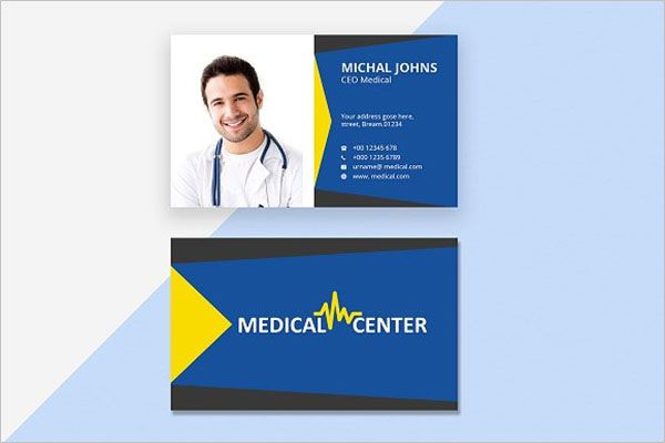 Responsive Clinic Business Card Design