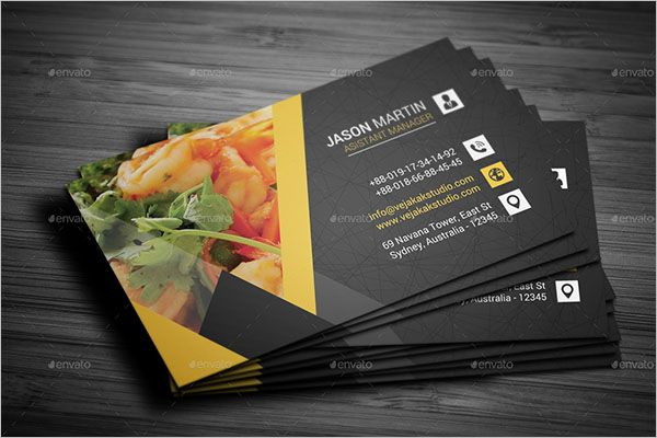 Restaurant Catering Services Business Card