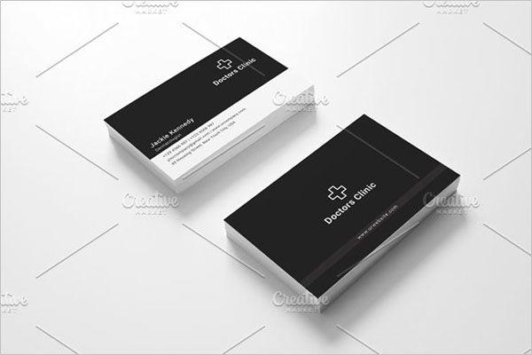Retro Clinic Business Card Design