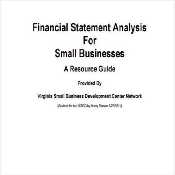 Sample Business Income Statement Template