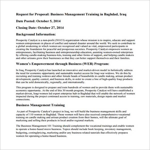 Seminar Training Proposal Template