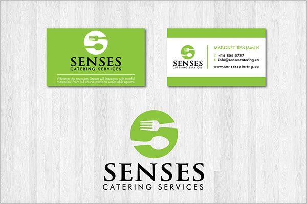 Simple Catering Services Business Card