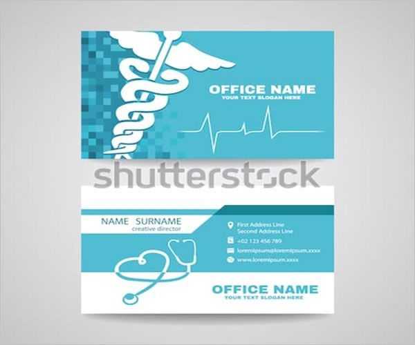 Simple Clinic Business Card PSD