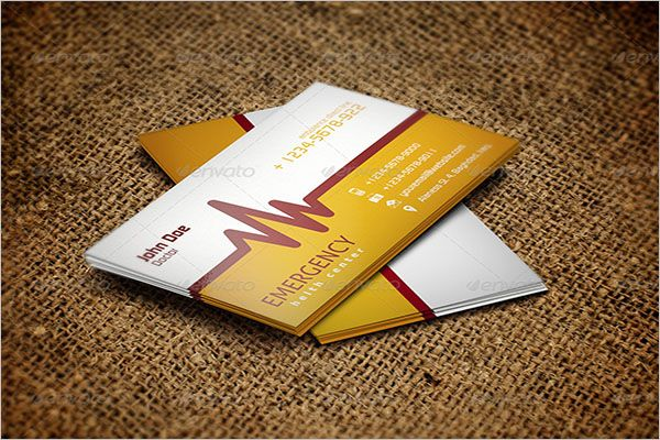 Simple Clinic Graphic Business Card Design