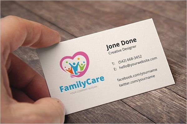 Special Day Care Business Card Design