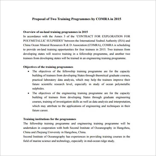 Techincal Training Proposal Template