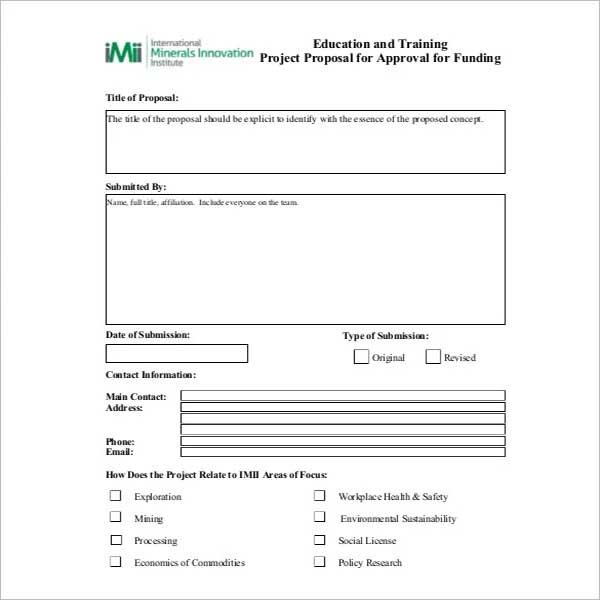 Training Proposal Template PDF