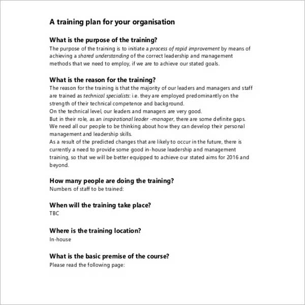 Training Proposal Template PPT