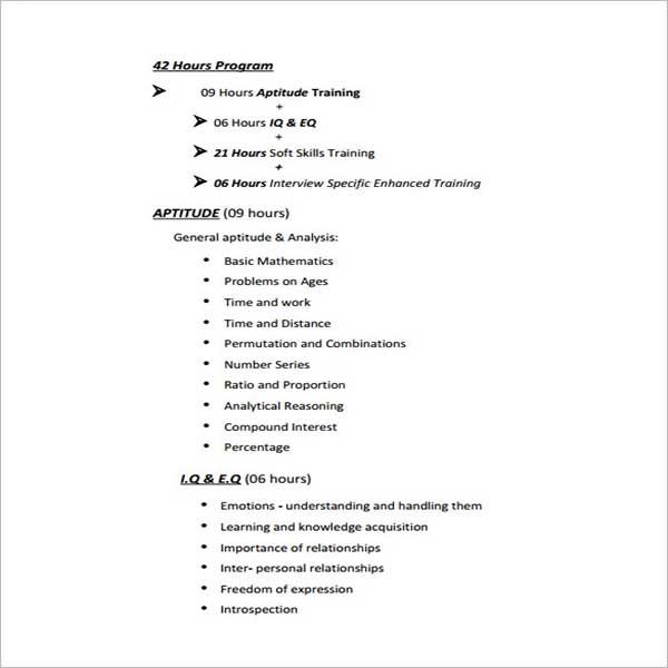 Training Seminar Proposal Template