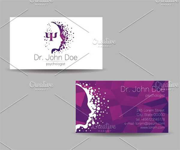 Unique Clinic Business Card Design
