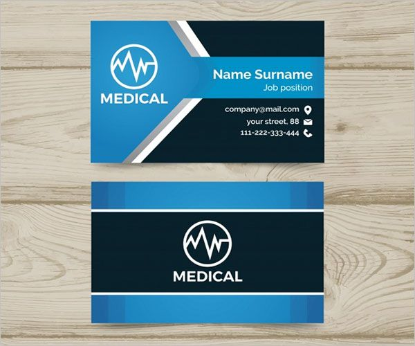 Vector Clinic Business Card Design