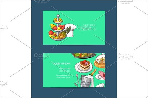 Vintage Catering Services Business Card