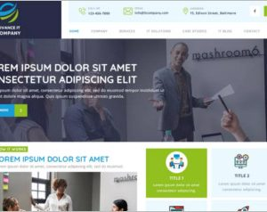 Advance IT Company WordPress Theme