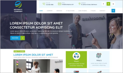 Advance IT Company WordPress Theme - Free Download