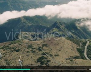 Aerial of Energy Producing Wind