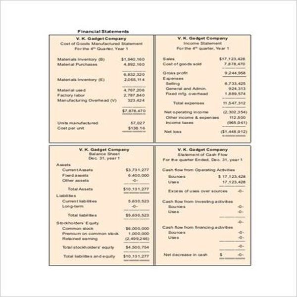 Best Blank Income Statement Template