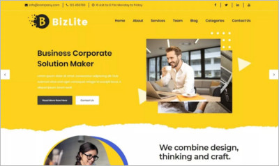 Bizlite Business WordPress Theme