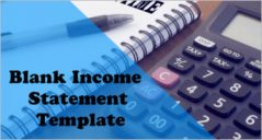 33+ Blank Income Statement Template