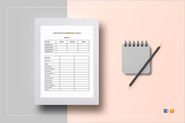 Blank Income Statement Template Document