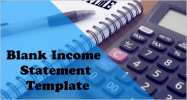 Blank Income Statement Template