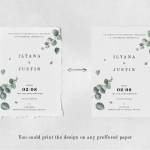 Eucalyptus Foliage Wedding Suite Design Template