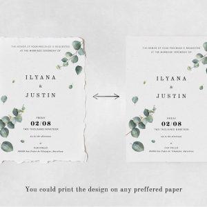Eucalyptus Foliage Wedding Suite Design Template