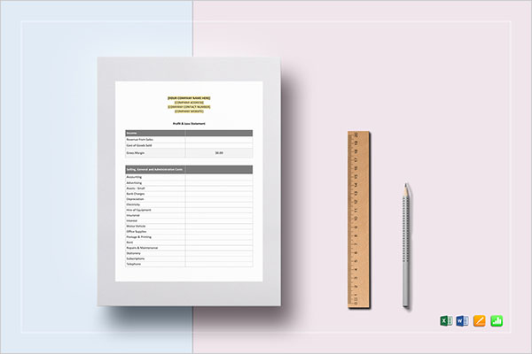 Expense Income Statement Template