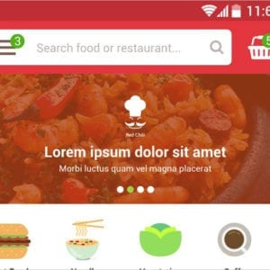 Food eCommerce Mobile app