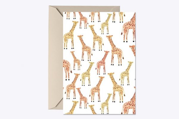 Giraffe Baby Shower Invite