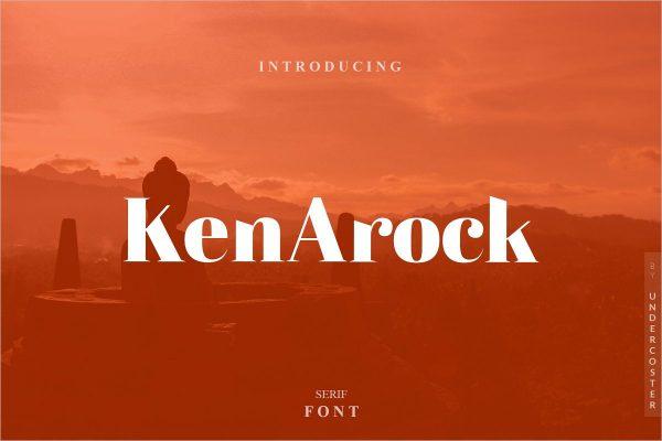 Kenarock - Serif Font -Free Download