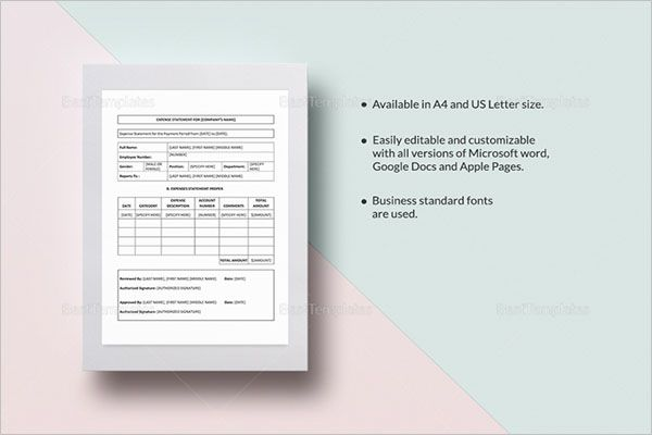 Project Income Statement Template