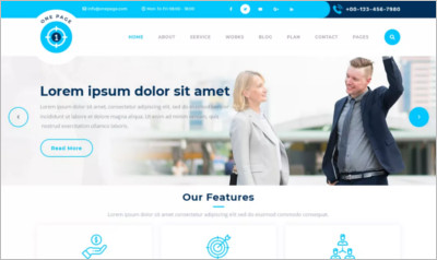 Safha One Page WordPress Theme