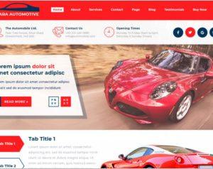 Sayara Automotive WordPress Theme